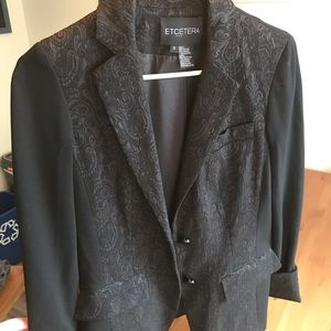 Black womens suit jacket